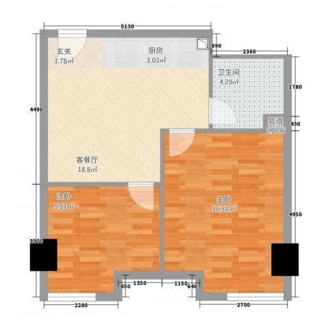 中宇国际中心2室1厅1卫0厨66.00㎡户型图
