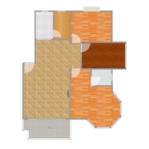 申奥美域3室1厅1卫1厨152.00㎡户型图