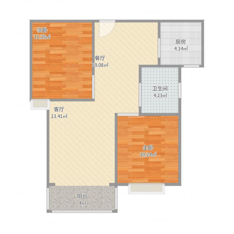 94平二室二厅一卫