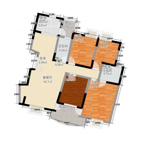 锦都花园4室1厅2卫1厨167.00㎡户型图