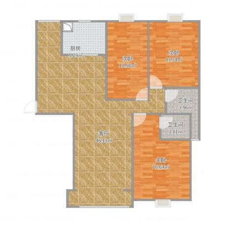 水澜山滨江豪景23室1厅2卫1厨136.00㎡户型图