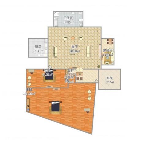美克嘉美湾3室3厅1卫1厨393.00㎡户型图