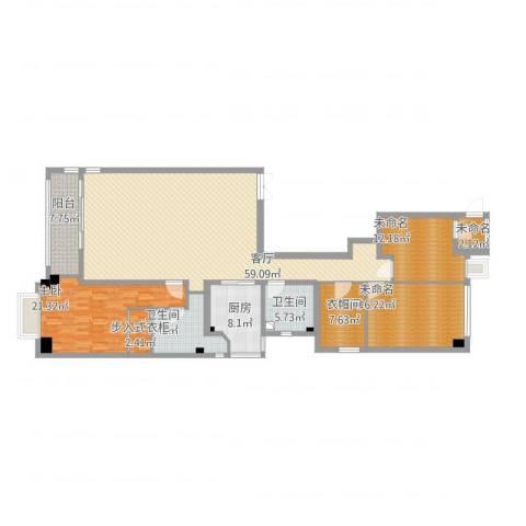 御翠园1室1厅5卫2厨212.00㎡户型图
