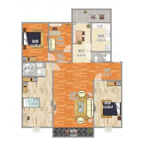 天通苑北一区4室1厅1卫1厨157.00㎡户型图