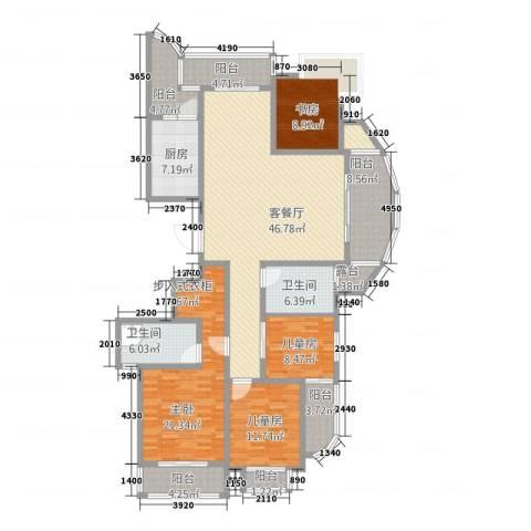绍兴天下4室1厅2卫1厨170.00㎡户型图