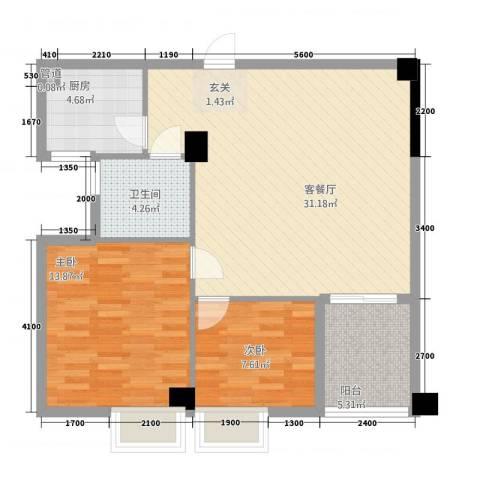 富安・森活印象2室1厅1卫1厨94.00㎡户型图