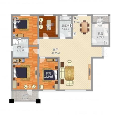 我的家园4室1厅2卫1厨197.00㎡户型图