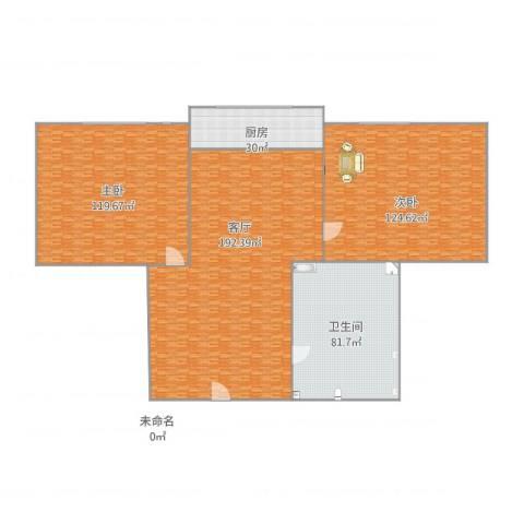 新华公寓2室1厅1卫1厨702.00㎡户型图