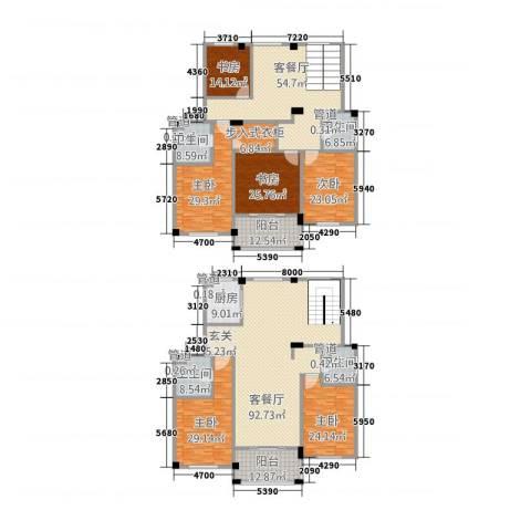 丰雅苑6室2厅4卫1厨366.03㎡户型图