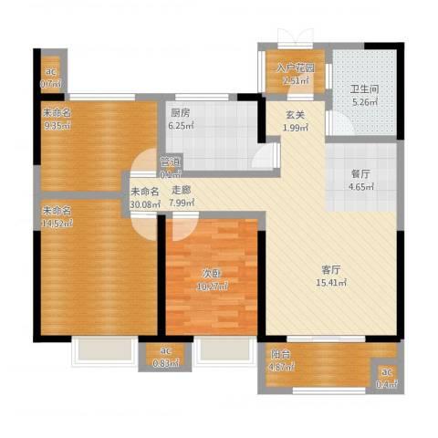 银亿东城1室1厅5卫1厨124.00㎡户型图