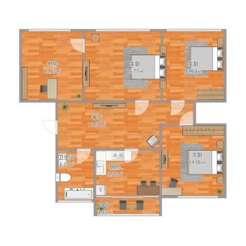 南湖新村4室1厅1卫1厨126.00㎡户型图