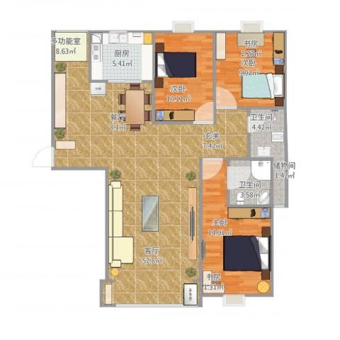 水澜山滨江豪景3室1厅2卫1厨135.00㎡户型图