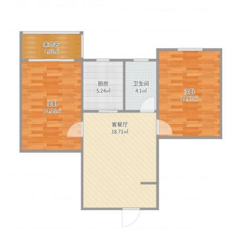叙康里2室1厅2卫1厨81.00㎡户型图