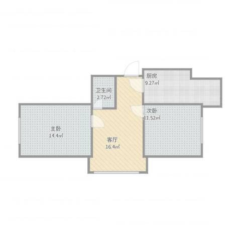 地环家园2室1厅1卫1厨73.00㎡户型图