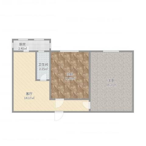 环秀中里2室1厅1卫1厨63.00㎡户型图