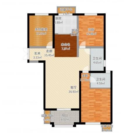 东方米兰国际城2室1厅6卫1厨155.00㎡户型图
