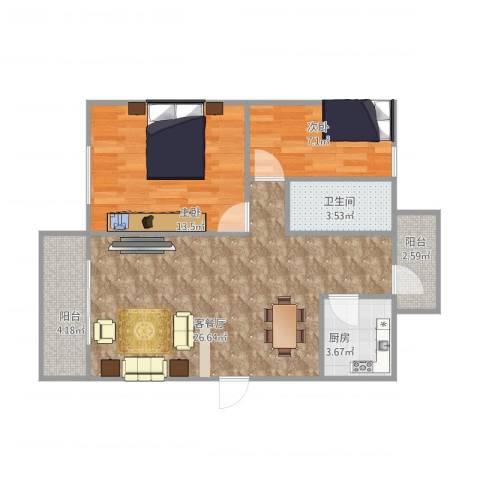 桦润馨居A2栋2单元5032室1厅1卫1厨83.00㎡户型图
