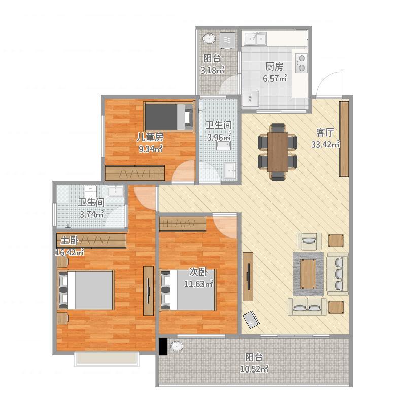 梧州_玫瑰湖恒祥豪苑15栋03室125平方原始图