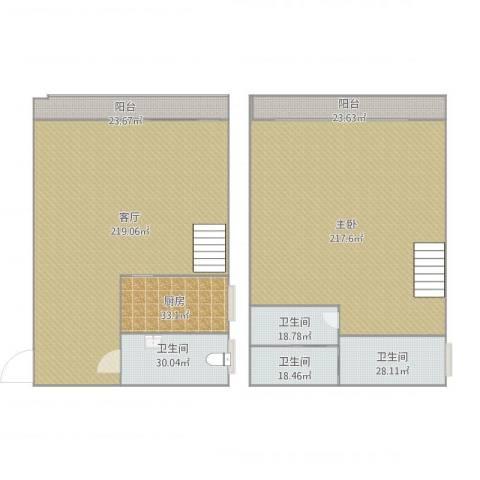 荣丰20081室1厅4卫1厨789.00㎡户型图