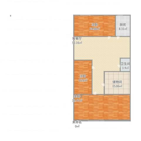 东大街东里3室1厅1卫1厨211.00㎡户型图