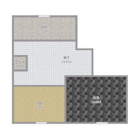 马栏北街2室1厅1卫1厨62.00㎡户型图