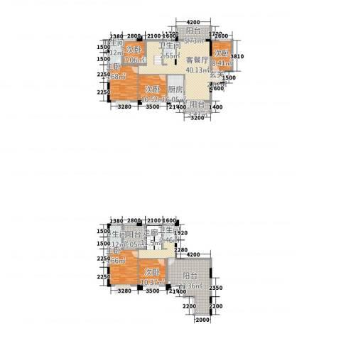 祥和新城6室1厅4卫1厨201.24㎡户型图