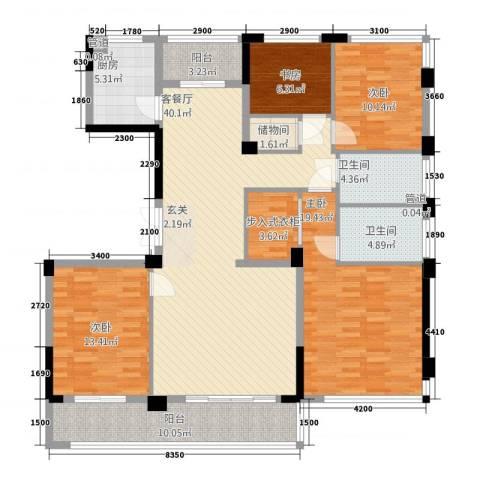 华鸿・温州大公馆4室1厅2卫1厨14143.00㎡户型图