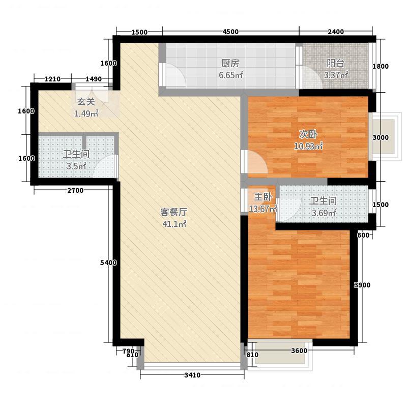 两室两厅两卫1