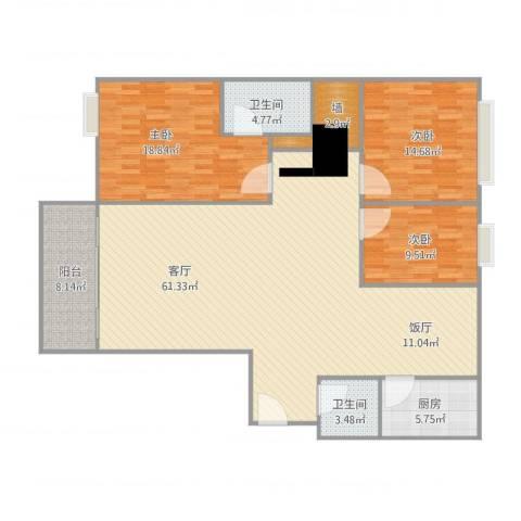 康泰新苑-单栋2单元13013室1厅2卫1厨175.00㎡户型图