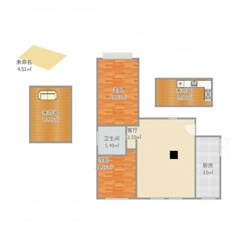 军营凤凰城2室1厅1卫1厨137.00㎡户型图