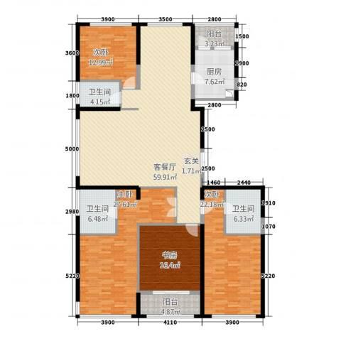 置地广场4室1厅3卫1厨239.00㎡户型图