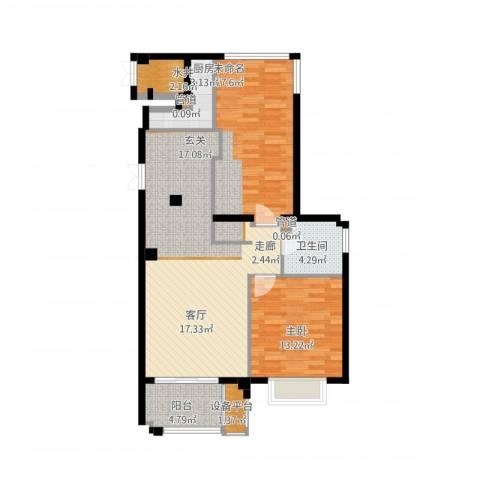 望湖公馆1室1厅1卫1厨114.00㎡户型图