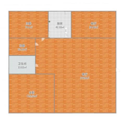 亲亲家园3室2厅1卫1厨982.00㎡户型图