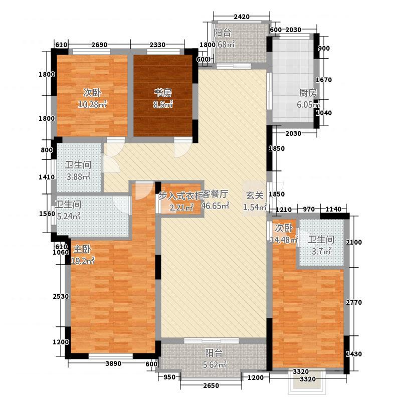中铁琉森水岸423163.19㎡4-户型4室2厅3卫1厨