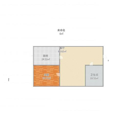 风格与林1室1厅1卫1厨182.00㎡户型图