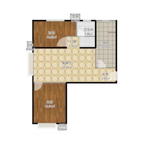 首创伊林郡3室1厅3卫1厨85.00㎡户型图