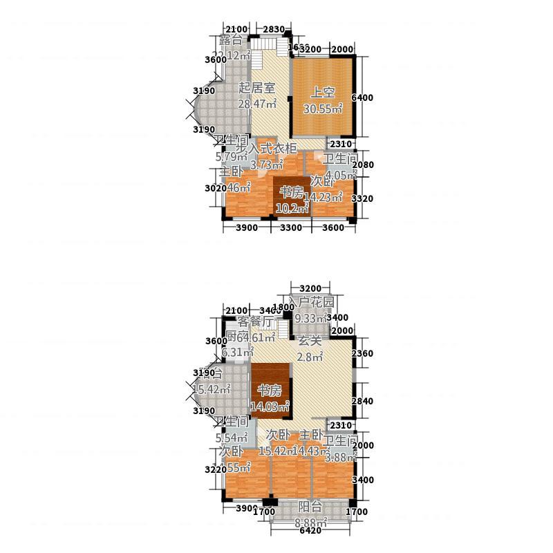 宝信城市广场626.35㎡复式06户型6室3厅4卫1厨