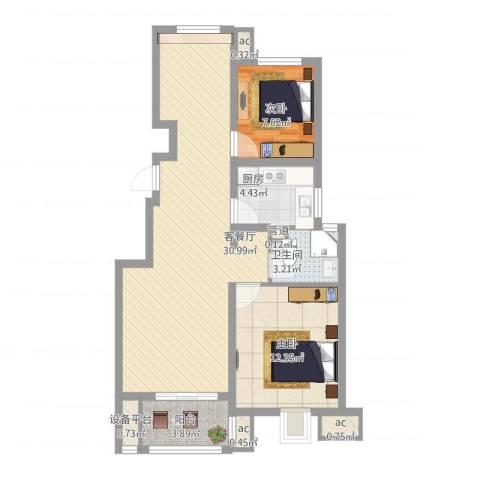 御山雅苑2室1厅1卫1厨94.00㎡户型图