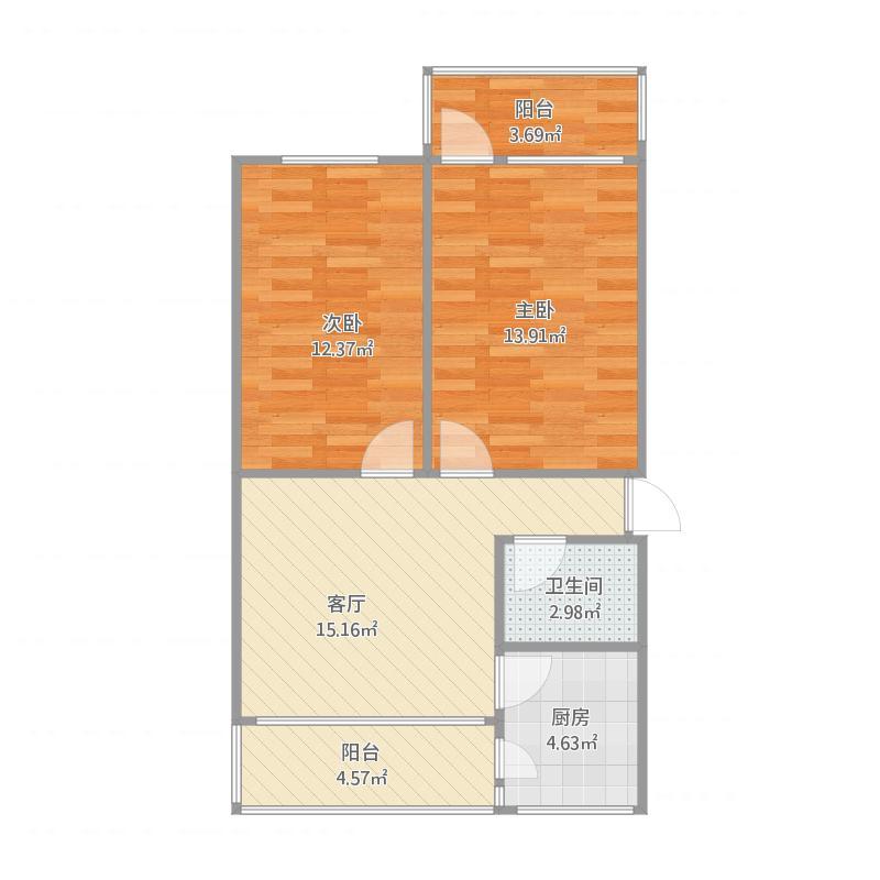船员11号楼3单元301户63.5平米