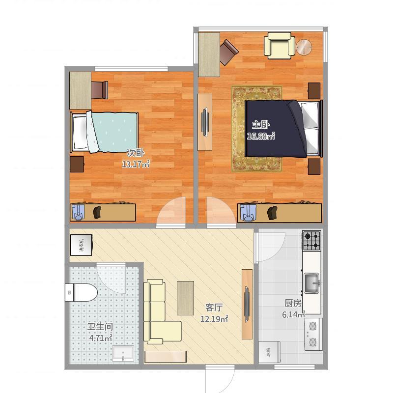 远洋村双南66平米套2厅