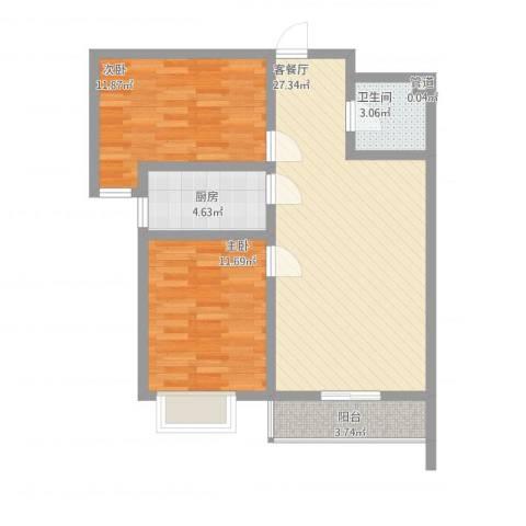 翠堤春晓四号楼meng2室1厅1卫1厨90.00㎡户型图