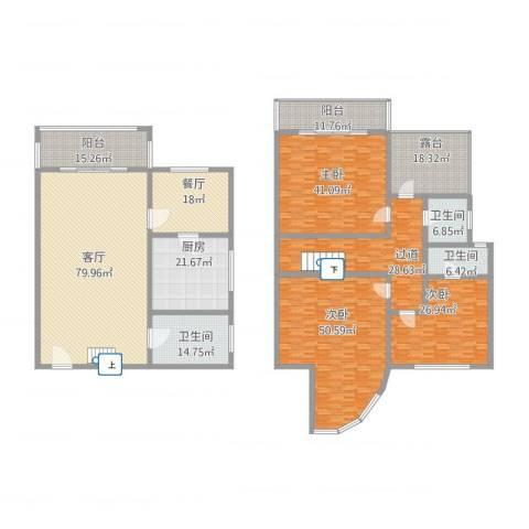 禾祥商城3室2厅3卫1厨476.00㎡户型图