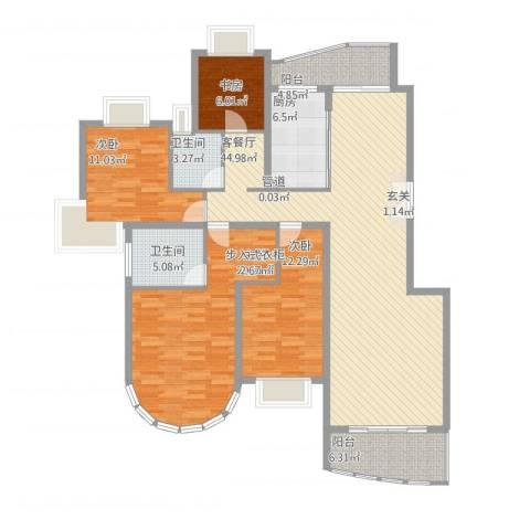 华丽家族花园4室1厅2卫1厨172.00㎡户型图