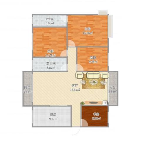 怡翠宏景4室1厅2卫1厨150.00㎡户型图
