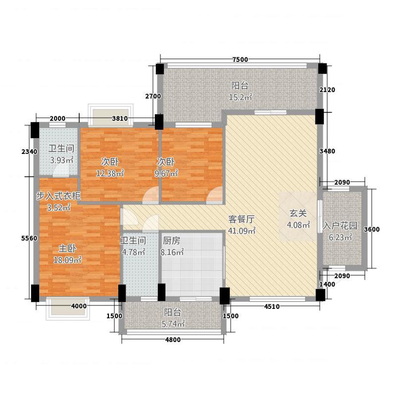 环江润丰幸福园141.82㎡A#B#户型3室2厅2卫1厨