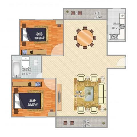 新高苑四期300弄2室1厅1卫1厨259.00㎡户型图