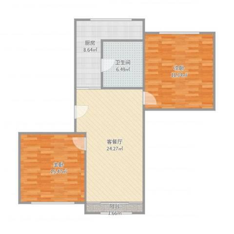 水西关外贸宿舍2室1厅1卫1厨100.00㎡户型图