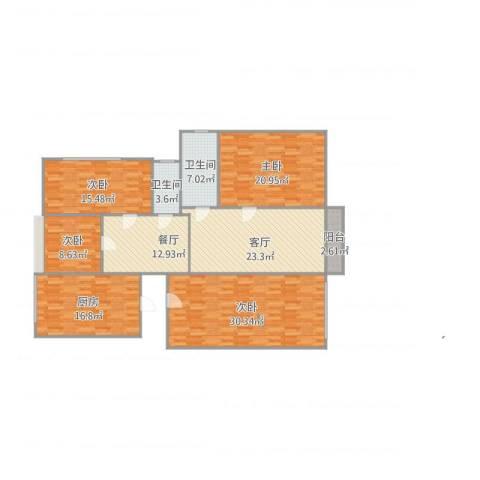 浦发博园4室2厅2卫1厨189.00㎡户型图
