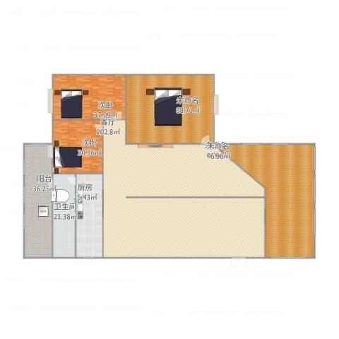 金坤花园2室1厅4卫1厨646.00㎡户型图