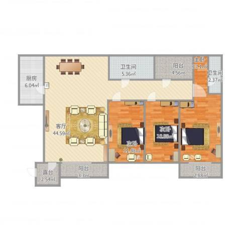 怡兴园8_5013室1厅2卫1厨150.00㎡户型图